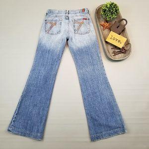 7 For All Mankind Dojo wide leg medium light jeans